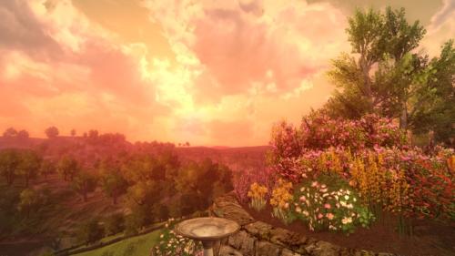 Sonnenuntergang über Beutelsend