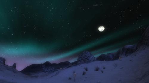 Nordlichter über Forochel